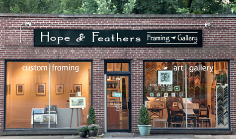 Hope & Feathers Framing and Printing in Amherst, MA