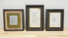 Emily Dickinson poems on wood from her home