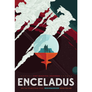 Enceladus - NASA /JPL Visions of the Future Poster
