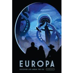 Europa - NASA /JPL Visions of the Future Poster