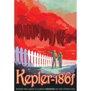Kepler 186f - NASA /JPL Visions of the Future Poster