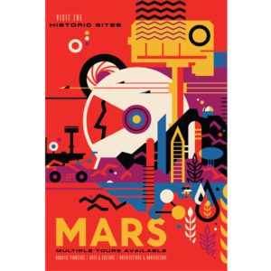 Mars - NASA /JPL Visions of the Future Poster