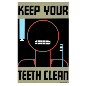 Keep Your Teeth Clean - Vintage WPA Poster