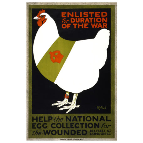 Enlisted Chicken - Vintage WW1 Poster