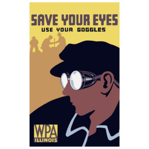 Save Your Eyes - Vintage WPA Poster