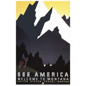 Welcome to Montana - Vintage WPA Poster