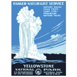 Yellowstone National Park - Vintage WPA Poster