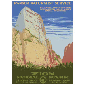 Zion National Park - Vintage WPA Poster
