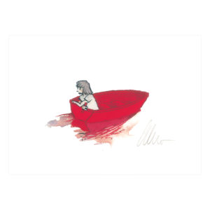 In the Red Boat – signed print by Aaron Becker