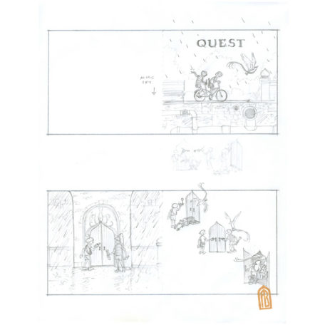 Quest early draft #1 - sketch by Aaron Becker