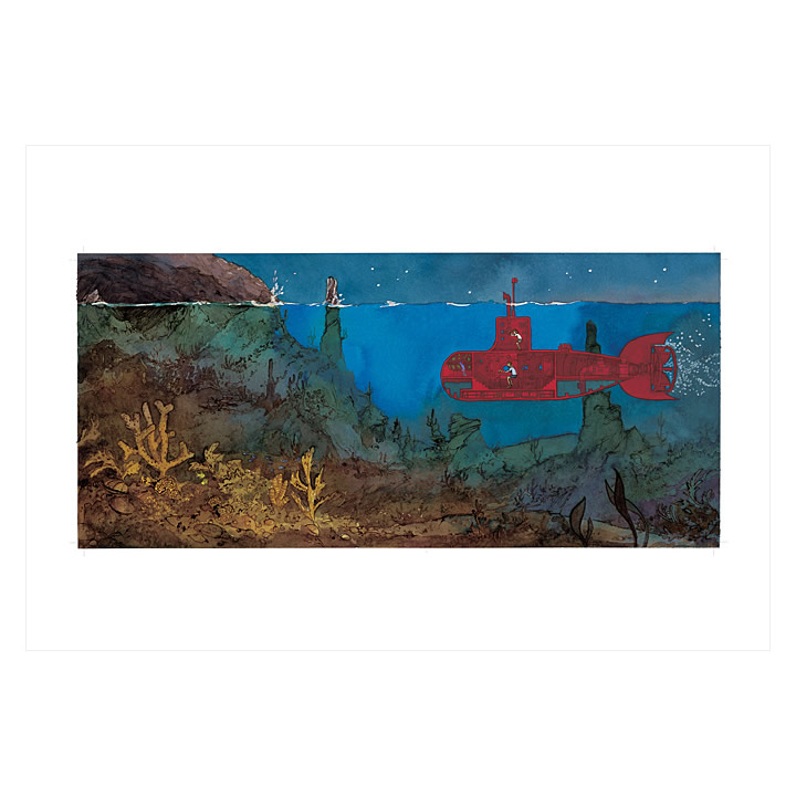 The Red Submarine – signed print by Aaron Becker – Hope & Feathers ...
