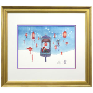 Winter – original watercolor by Aaron Becker