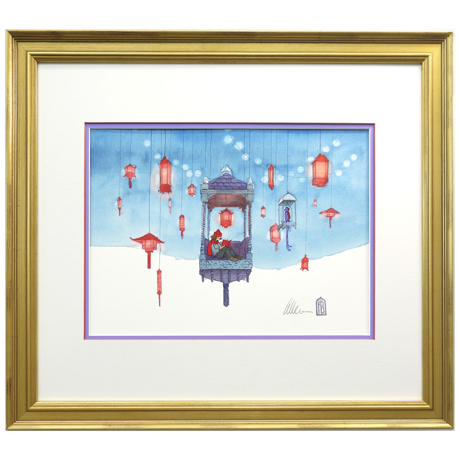 Winter – original watercolor by Aaron Becker - Hope & Feathers ...