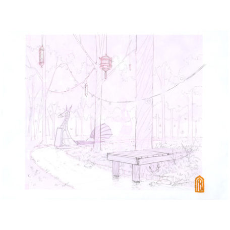 The Mysterious Boat - sketch by Aaron Becker