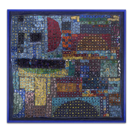 Earth to Mars - original mosaic by Isabel Margolin