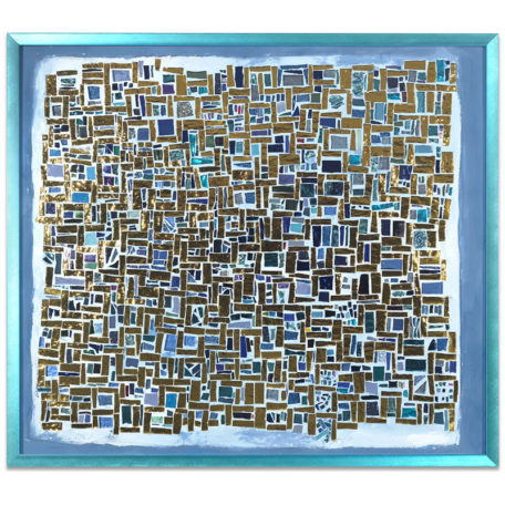 Hebrew Lessons - original mosaic by Isabel Margolin