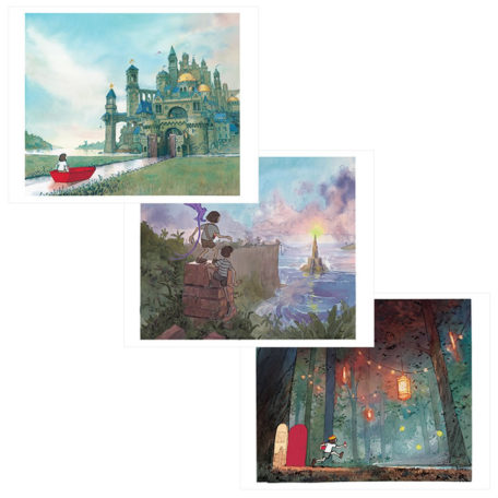 Journey, Quest, & Return – signed prints by Aaron Becker