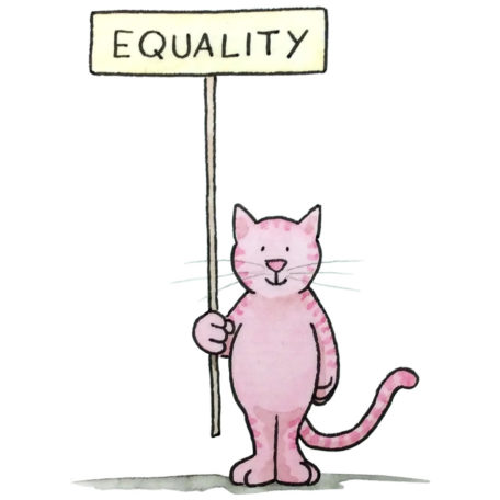 Equality Kitty - signed print By David Hyde Costello
