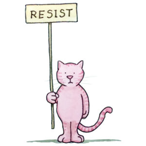 Resist Kitty – signed print By David Hyde Costello