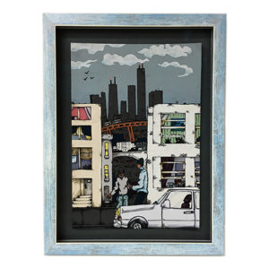 City Friends, Chicago - original artwork by Mansa Fantozzi