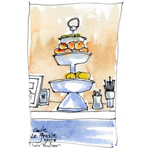 Cafe le Grazie - print by Lois Barber