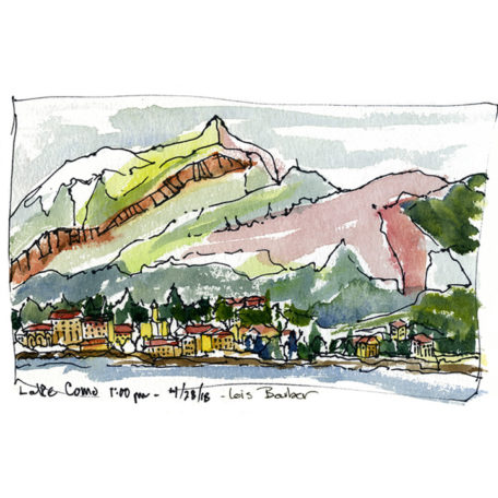 Lake Como, First 15 Minutes - print by Lois Barber