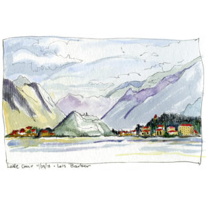 Lake Como, Misty Morning - print by Lois Barber
