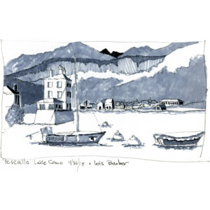 Pescallo on Lake Como - print by Lois Barber