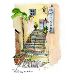 Rainy Day, Bellagio - print by Lois Barber
