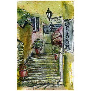 Bellagio Stairs - print by Lois Barber