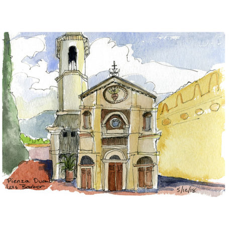 Pienza Duomo - print by Lois Barber