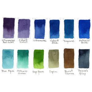 Cool Colors - print by Lois Barber