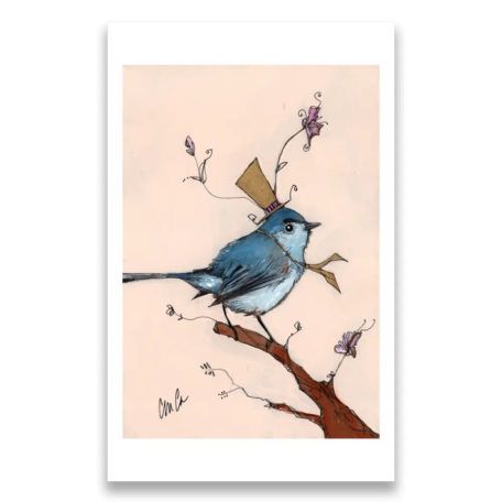 Blue Gray Gnatcatcher - signed print by Cordell Cordaro