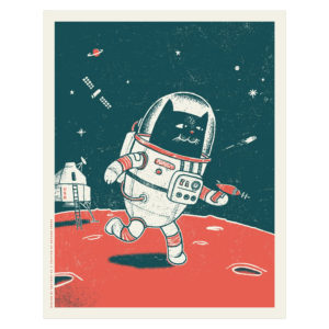 Space Cat - screen print by Factory 43