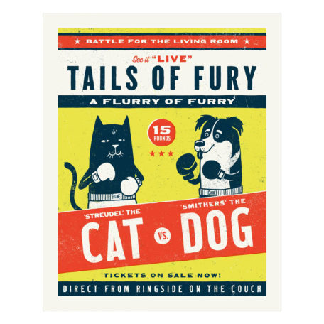 Tails of Fury - screen print by Factory 43