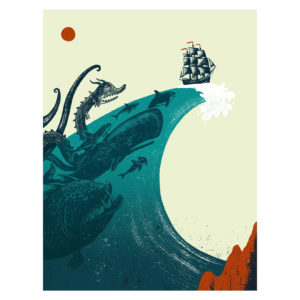 Wave - screen print by Factory 43
