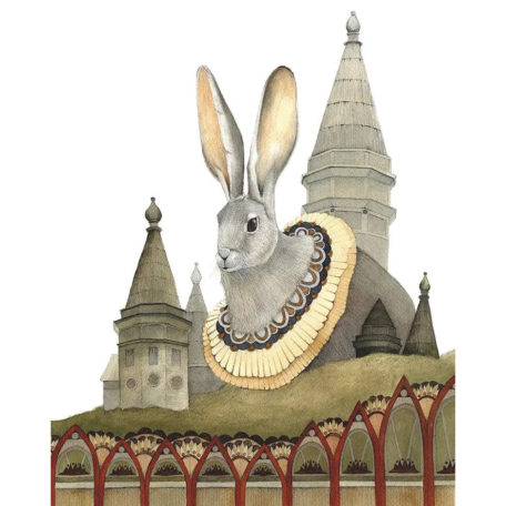 House of Rabbit - signed print by Polanshek of the Hills