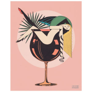 Cocktails - print by Mike Willcox