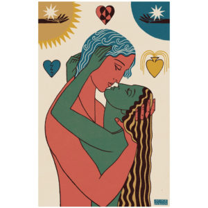 The Lovers - print by Mike Willcox