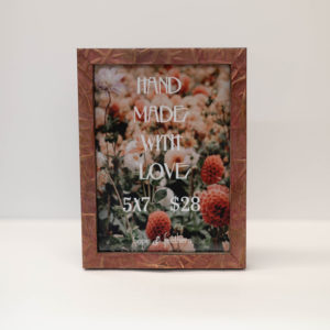 Textured Red 5″ x 7″