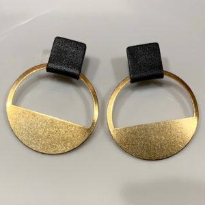 Small Leather and Brass Hoops