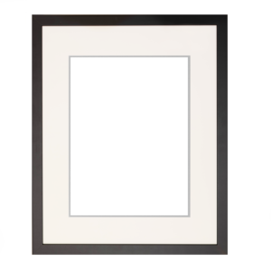 9″ x 12″ Black frame with double mat